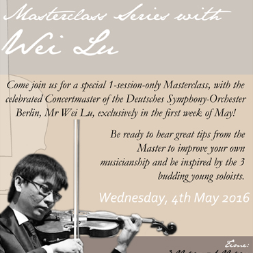 Masterclass Series With Wei Lu