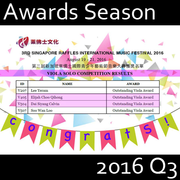 Awards Season 2016 Q3